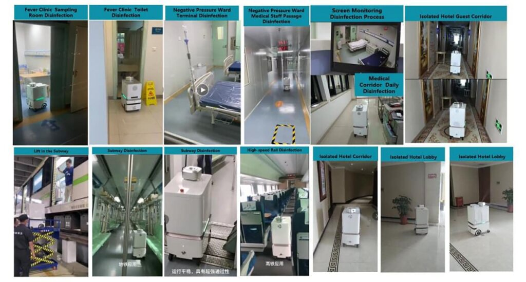 Application Cases of Intelligent Disinfection Robot